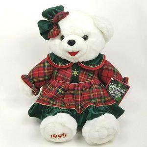Vintage 1999 Dan Dee Snowflake Teddy Bear Plush